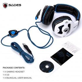 Sades Gaming Headphone Headset LED Virtual 7.1 with Mic - SA-903 - Blue - 5