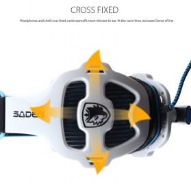 Sades Gaming Headphone Headset LED Virtual 7.1 with Mic - SA-903 - Blue - 9