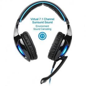 Sades Gaming Headphone Headset LED Virtual 7.1 with Mic - SA-902 - Blue - 2