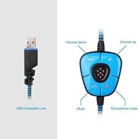 Sades Gaming Headphone Headset LED Virtual 7.1 with Mic - SA-902 - Blue - 5