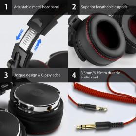 Oneodio Gaming Headphone Headset Studio Pro DJ with Mic - Pro-50 - Black - 6