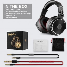 Oneodio Gaming Headphone Headset Studio Pro DJ with Mic - Pro-50 - Black - 9