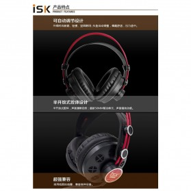 ISK Monitoring Headphone Studio Pro DJ Semi-open - HP-580 - Black - 6