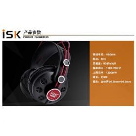 ISK Monitoring Headphone Studio Pro DJ Semi-open - HP-580 - Black - 8