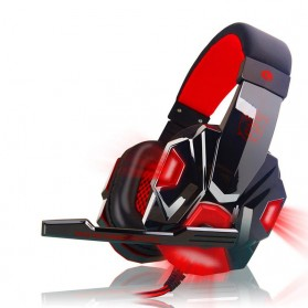 Ostart Gaming Headphone Headset LED with Mic - PC780 - Red