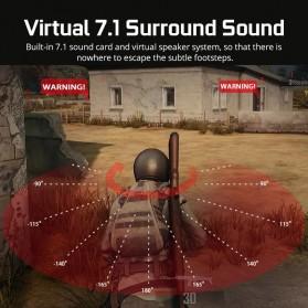 Sades Gaming Headphone Headset LED Virtual 7.1 with Mic - A6 - Black - 2