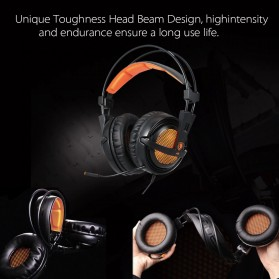 Sades Gaming Headphone Headset LED Virtual 7.1 with Mic - A6 - Brown - 7