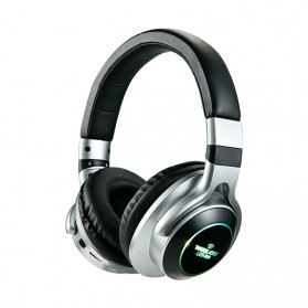 HANXI Wireless Headphone Bluetooth 5.0 3D Stereo with Mic - LED-008 - Gray
