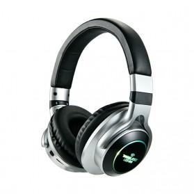 HANXI Wireless Headphone Bluetooth 5.0 3D Stereo with Mic - LED-008 - Gray - 1