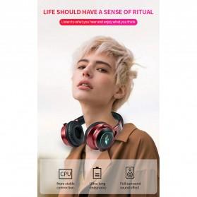 HANXI Wireless Headphone Bluetooth 5.0 3D Stereo with Mic - LED-008 - Gray - 7