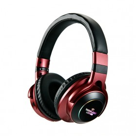 HANXI Wireless Headphone Bluetooth 5.0 3D Stereo with Mic - LED-008 - Red - 1