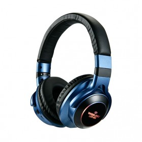 HANXI Wireless Headphone Bluetooth 5.0 3D Stereo with Mic - LED-008 - Blue - 1