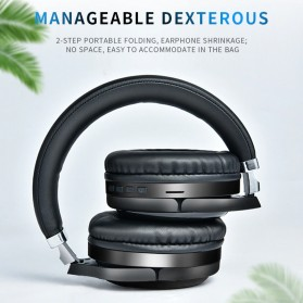 HANXI Wireless Headphone Bluetooth 5.0 3D Stereo with Mic - TM-061 - Black - 4