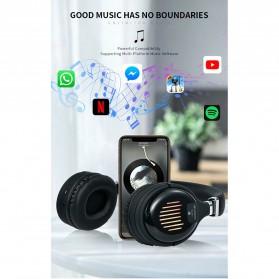 HANXI Wireless Headphone Bluetooth 5.0 3D Stereo with Mic - TM-061 - Black - 7