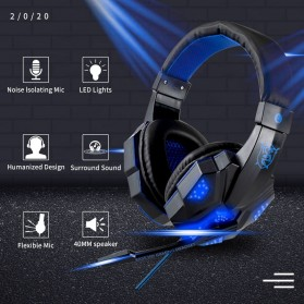QearFun Gaming Headphone Headset LED with Mic - SY830MV - Red - 2
