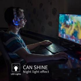 QearFun Gaming Headphone Headset LED with Mic - SY830MV - Red - 3