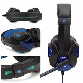 QearFun Gaming Headphone Headset LED with Mic - SY830MV - Blue - 3