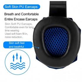 QearFun Gaming Headphone Headset LED with Mic - SY830MV - Blue - 4
