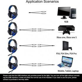 QearFun Gaming Headphone Headset LED with Mic - SY830MV - Blue - 5