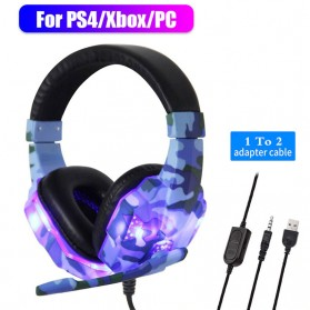 SOYTO Gaming Headphone Headset LED with Mic - SY830MV - Blue