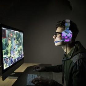 SOYTO Gaming Headphone Headset LED with Mic - SY830MV - Blue - 2