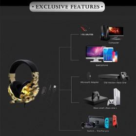 SOYTO Gaming Headphone Headset LED with Mic - SY830MV - Blue - 5
