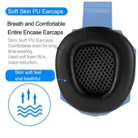 SOYTO Gaming Headphone Headset LED with Mic - SY830MV - Blue - 8