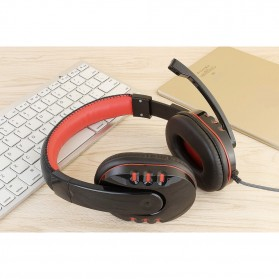 HANXI Gaming Headphone Headset LED with Mic - CH1 - Red - 5