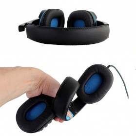 HANXI Gaming Headphone Headset LED with Mic - CH1 - Blue - 2