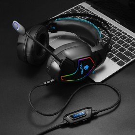 KOTION YOTMS Gaming Headphone Headset Super Bass RGB LED with Mic - Y1 7.1 - Black - 5