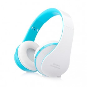 KANEN Wireless Bluetooth Foldable Headset Stereo Bass  NX-8252 - White/Blue