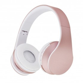 Centechia Wireless Headphone Bluetooth TF Card FM Receiver with Mic - BH-811 - Pink