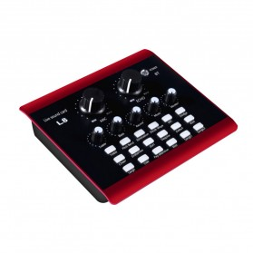 Lollipopc Bluetooth Audio USB External Soundcard Live Broadcast Microphone Headset - L8 - Black - 2