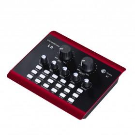 Lollipopc Bluetooth Audio USB External Soundcard Live Broadcast Microphone Headset - L8 - Black - 3