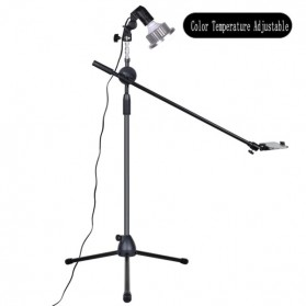 Lightupfoto Tripod Stand Holder Smartphone with Boom Arm and LED Light 35W - CN-128 - Black