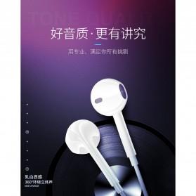 KEBETEME Earpods Earphone Headset In-Ear Lightning with Mic - KIK58 - White - 2