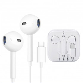 KEBETEME Earpods Earphone Headset In-Ear USB Type C with Mic - YS58 - White