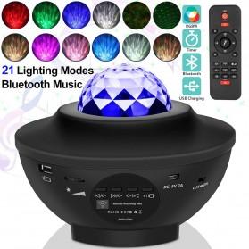 TaffLED Speaker Bluetooth + Lampu Tidur Proyektor + Remote - BR770613 - Black