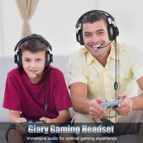 EKSA Gaming Headphone Headset LED with Mic - E3000 - Black - 6