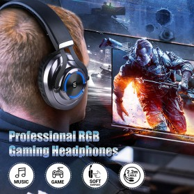 EKSA Gaming Headphone Headset LED with Mic - E3000 - Black - 8