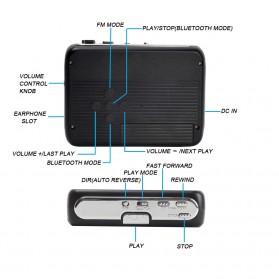 Tonivent Player Kaset Tape Walkman Bluetooth FM Radio - TON007B - Black - 2