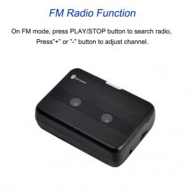 Tonivent Player Kaset Tape Walkman Bluetooth FM Radio - TON007B - Black - 5