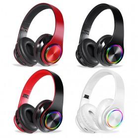 Centechia Wireless Headset Headphone Bluetooth 5.0 with Mic- B39 - Black/Red - 2