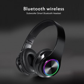 Centechia Wireless Headset Headphone Bluetooth 5.0 with Mic- B39 - Black/Red - 3