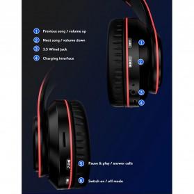 Centechia Wireless Headset Headphone Bluetooth 5.0 with Mic- B39 - Black/Red - 7