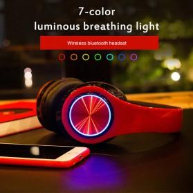 Centechia Wireless Headset Headphone Bluetooth 5.0 with Mic- B39 - Black/Red - 8