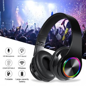 Centechia Wireless Headset Headphone Bluetooth 5.0 with Mic- B39 - Black/Red - 10