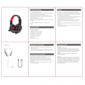 SOYTO Gaming Headphone Headset with Mic - SY733MV - Black/Red - 4
