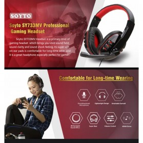 SOYTO Gaming Headphone Headset with Mic - SY733MV - Black/Red - 9