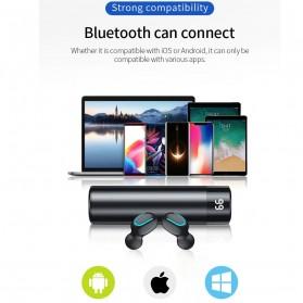 UKKUER Earphone TWS Bluetooth 5.0 + Charging Case 1500mAh - F15 - Black - 10